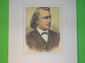 Johannes Brahms (Brustbild nach halbrechts) //: Porträt) -
