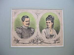 Friedrich, Prinz von Hohenzollern und Luise, Prinzessin von Thurn und Taxis. //: Porträt ...