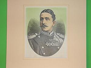 Fürst Alexander I. von Bulgarien (Brustbild nach viertellinks) //: Porträt) -