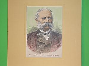 Hermann von Schlagintweit-Sakünlünsky (Brustbild nach viertelrechts) //: ...