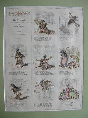 """Die Windhose"""" -: Mohammed-Karikatur um 1880) -"""