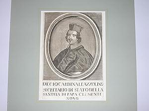 Brustbild nach halblinks.: Decio Cardinale Azzolino Secretario di Stato della Santita di Papa ...
