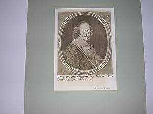 Kardinal J. Mazarin (1602 - 1661). Hüftbild nach viertelrechts im ovalen Rahmen. //