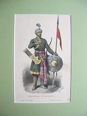 Hindu-Krieger des XV. Jahrhunderts. (Ganzfigur) //: Porträt) -