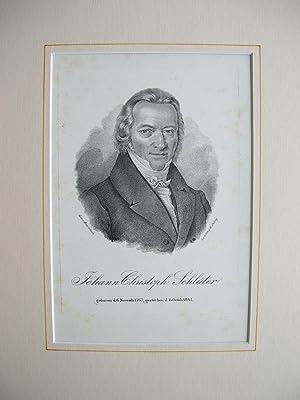 Johann Christoph Schlüter (1767 - 1841) Brustbild nach viertelrechts //: Porträt) -