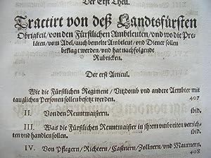 """Erklärung der Landtsfreyheit der Fürstenthumben Obern und Nidern Bayrn."""" /&#x2F..."""