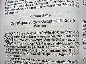 """Erklärung der Landtsfreyheit der Fürstenthumben Obern und Nidern Bayrn."""" //: Codex ..."""