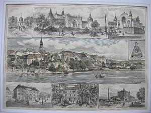 Przibram und der Heilige Berg. (7 Ansichten auf einem Blatt). //: Przibram/Pribram/...
