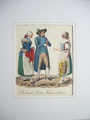 "Boehmische Tracht - Costume Bohèmien."" //: Böhmen - Tracht):"