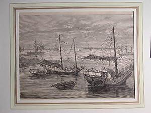 """Die chinesischen Hafenbefestigungen am Yang-tse-Kiang und Wusung."""" //: Schifffahrt ..."""
