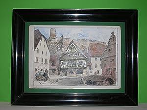 "Une Place a Kayserberg."" (Kaysersberg, Kaisersberg). //: Albert Robida - Kaisersberg..."