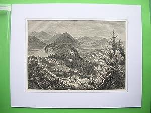 Hohenschwangau mit umliegenden Bergen. //: Hohenschwangau -