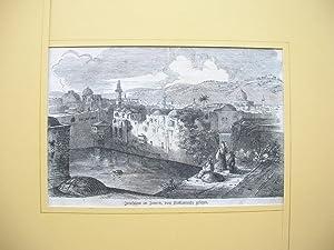 """Jerusalem im Inneren, vom Hiskiasteiche gesehen."""" //: Jerusalem -"""