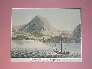 Spiez am Thuner-See //: Vue du Chateau de Spiez au Lac de Thoune.