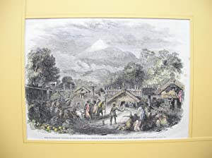"Pah, or fortified Village, of the Natives in the Province of New Plymouth (Taranaki)."" /&..."