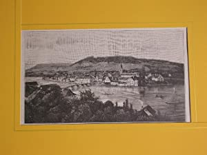 """Stein vom linken Rheinufer aus."""" //: Stein am Rhein -"""