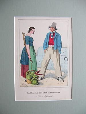 """Bauersleute aus dem Herzogthum Braunschweig."""" //: Braunschweig - Tracht)"""