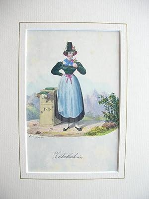 Zillertaler Handschuhhändlerin. //: Zillertal/Tirol)