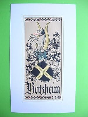 "Wappen des Geschlechts ""von Botzheim"" //: Adelswappen /Heraldry /Coat of arms ..."