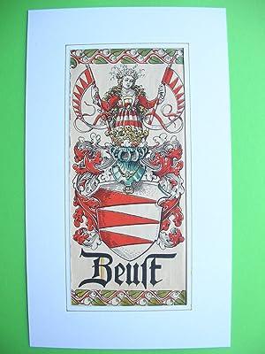 """Wappen des Geschlechts """"Beust"""" //: Adelswappen /Heraldry /Coat of arms to ..."""
