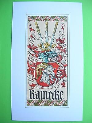 """Wappen des Geschlechts """"Kamecke"""" //: Adelswappen /Heraldry /Coat of arms to ..."""