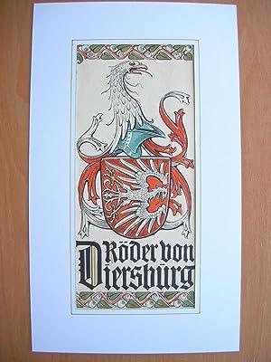 """Wappen des Geschlechts """"Röder von Diersburg und Rodeck"""" //: Adelswappen /..."""