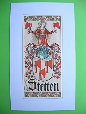 """Wappen des Geschlechts """"Stetten"""" //: Adelswappen /Heraldry /Coat of arms to ..."""