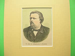 """Wilhelm Jahn - kgl. Hofkapellmeister in Wiesbaden."""" //: Porträt"""