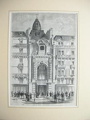 """La Nouvelle Facade des Magasins du GAGNE-PETIT, dans l'Avenue de l'Opera."""" /&#..."""
