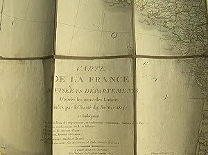 Carte de la France - Divisèe en Departemens, D'apres les nouvelles Limites, fixè...