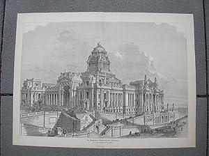 Der Justizpalast in Brüssel nach seiner Vollendung.: Brüssel /Bruxelles
