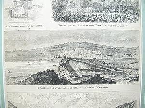 """4 Abbildungen auf einem Blatt (""""Le Barrage, vu de la Vallée de Verviers """", etc.)&..."""