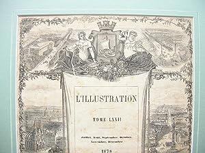 Titre (Title-page): L'Illustration, Tome LXXII; 1878: Feuille périodique)