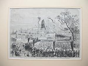"""Macon - Cérémonie d'Inauguration de la Statue de Lamartine, le 18 Aout"""" (..."""