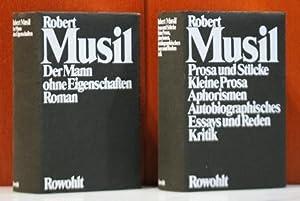 Gesammelte Werke. 2 Bände (alles) Band I;: Musil, Robert: