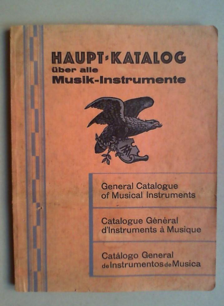 Katalog Musikinstrumente Max Adler Erlbach Vogtl Um 1910 Musikinstrumente