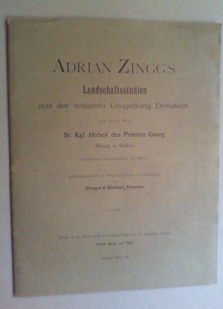 Adrian Zingg's Landschaftsstudien aus der weiteren Umgebung: Stengel & Markert