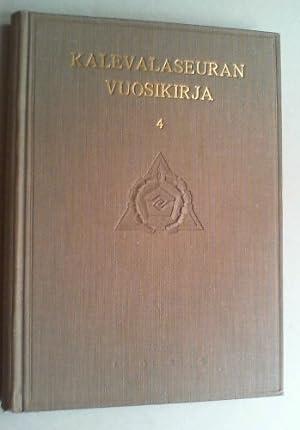 Kalevalaseuran vuosikirja. Jg. 4 (1924).