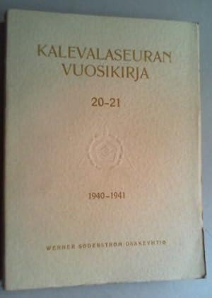 Kalevalaseuran vuosikirja. Jg. 20-21 (1940-1941).