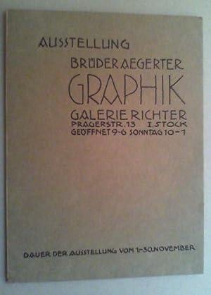 Ausstellung Brüder Aegerter, Graphik. (Einladung zur) Ausstellung vom 1.-30. November (1924).:...