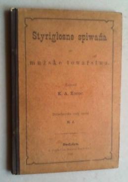 Styriglosne spiwana za mužke towarstwa. Dolnolužyske texty spisal H.(endrich) J.(ordan). (Mit einem...