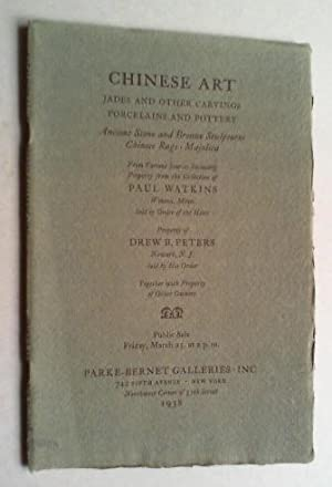 Chinese porcelains and pottery, carvings in jade,: Parke-Bernet Galleries (Ed.):