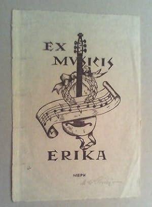 Ex musicis Erika. Holzschnitt, (1948), im Druckstock vom Künstler monogrammiert (MEPH) und ...