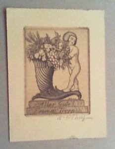 Alles Gute ! / Emma Tropp. Radierung, (1923), in der Platte vom Künstler eigenhändig...