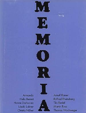 Memoria. Eine Ausstellung zeitgenössischer Kunst mit Armando,: Busche, Ernst A.