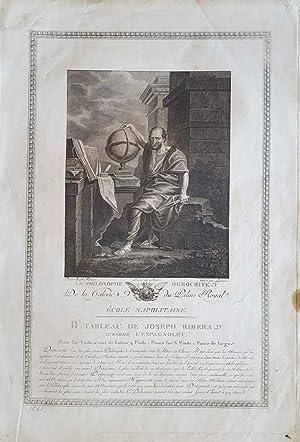 Le Philosophe Democrite. Kupferstich von Lorieux nach: Demokrit - Jusepe