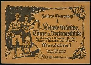 Halter's Tourenheft. Leichte Märsche, Tänze und Vortragsstücke: Halter, Wilhelm (Hrsg.):