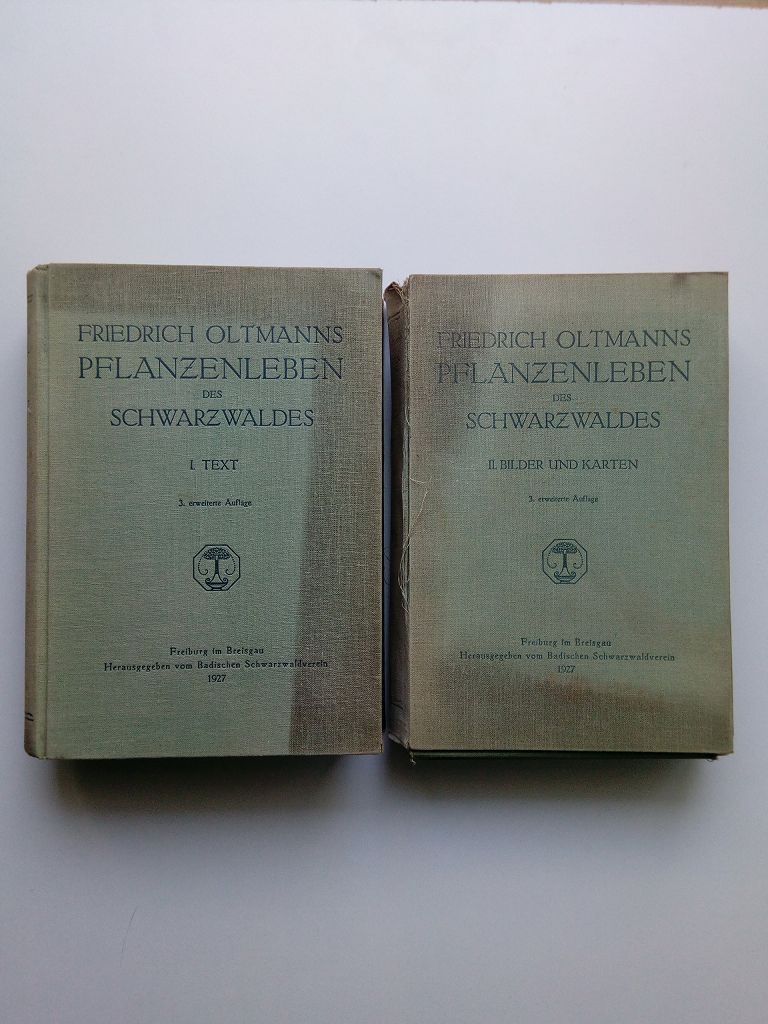 Das Pflanzenleben des Schwarzwaldes; 2 Bände: I.: Oltmanns, Friedrich