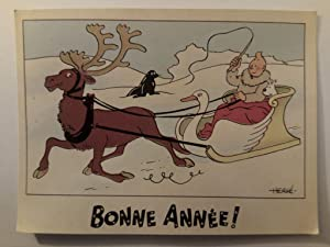 Bonne Année!. Motif Traineau cygne / Motiv: Hergé