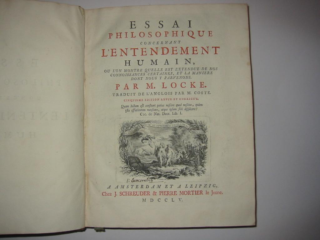 Essai Philosophique Concernant Von Locke